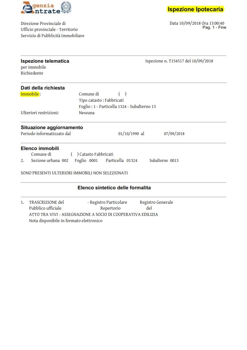 Visure ipotecarie online su tutto il territorio nazionale catasto semplice - Visura storica per immobile gratis ...