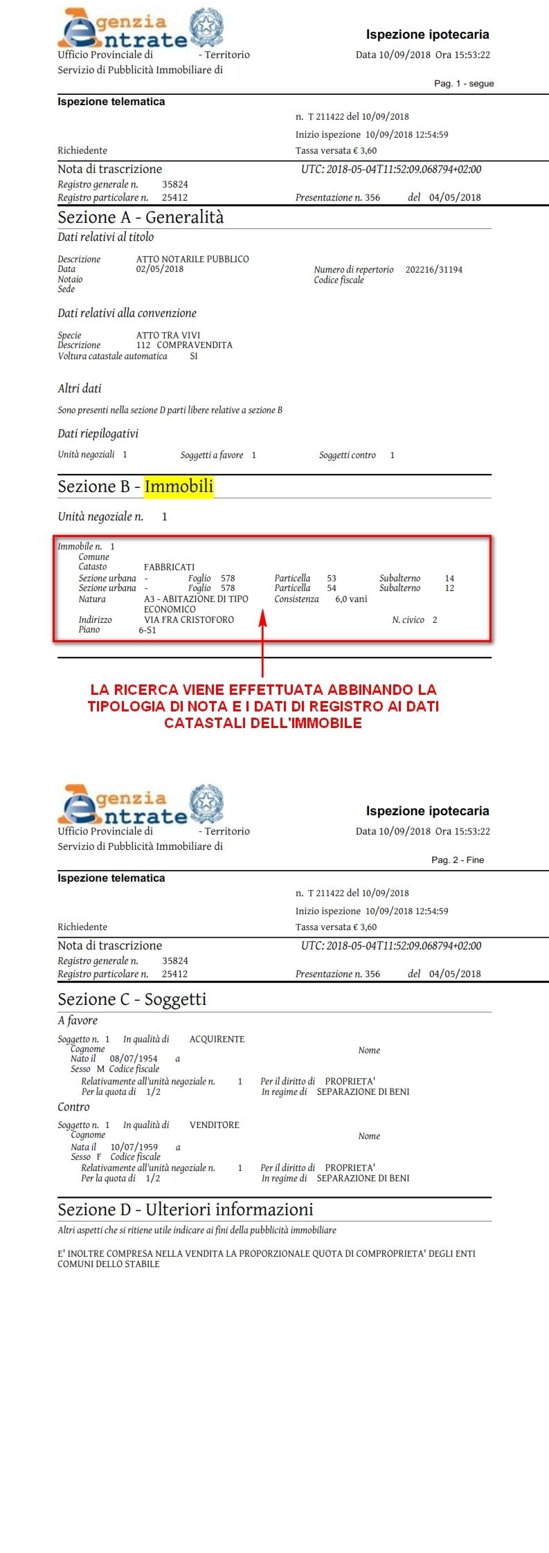 NOTA DI TRASCRIZIONE CONSERVATORIA SCARICARE